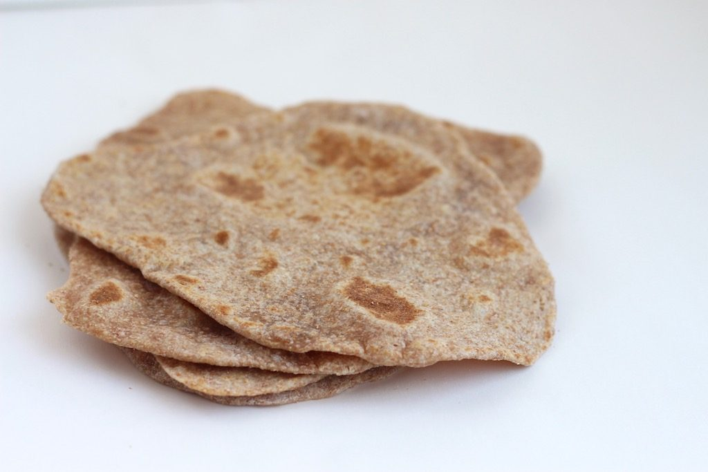 Whole Wheat Flatbread (Indian Roti)